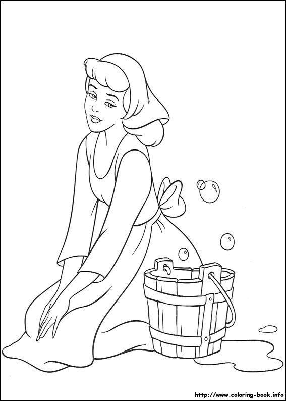 Disney Cinderella Coloring Pages Getcoloringpages Com Coloring