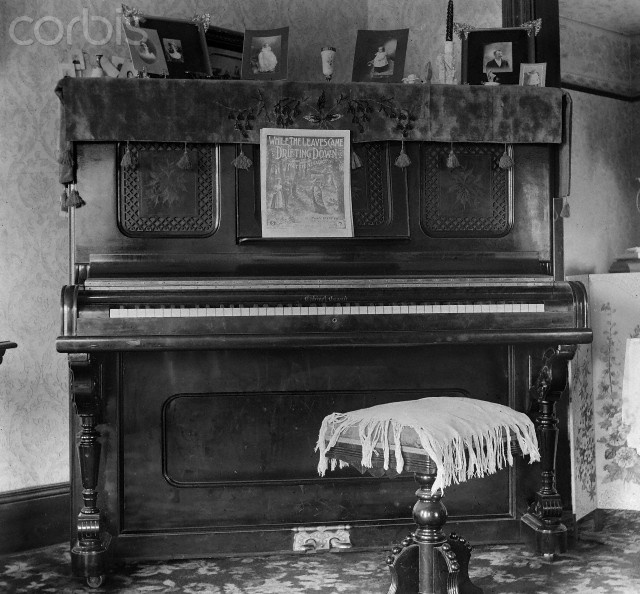 Interior Of Victorian Home Ca. 1900.
