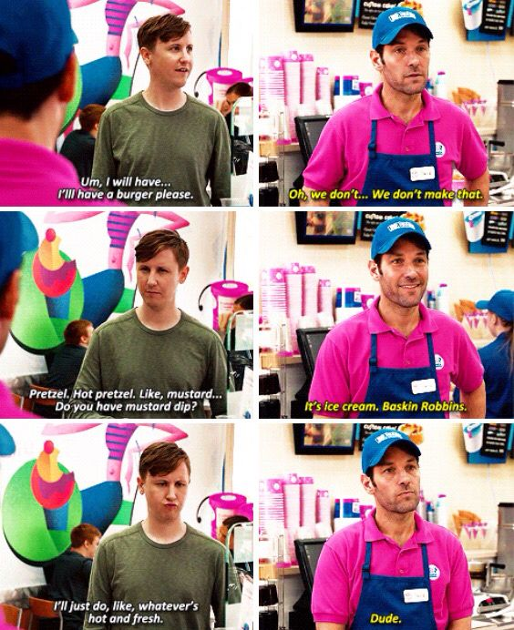 All I want to do now is go to bask in robins and say this.