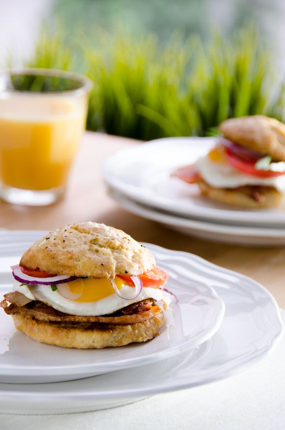 Warm and Spicy Chipotle Bacon Breakfast Biscuits