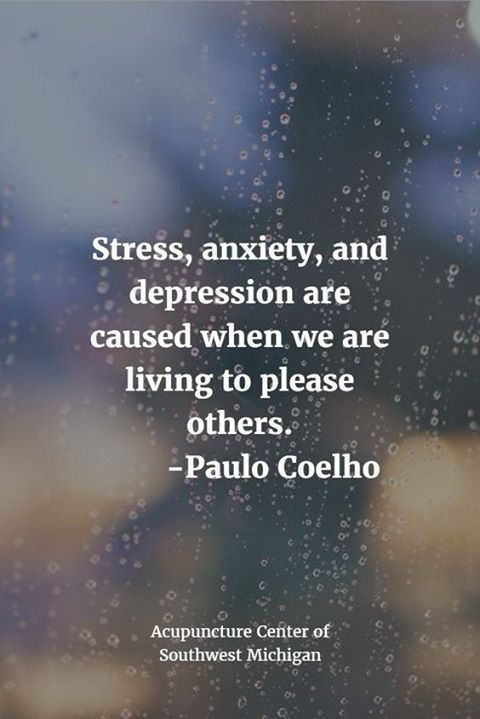 Stress anxiety and depression are caused when we are living to please others. Paulo Coelho Codependency Recovery Quotes