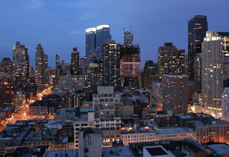 In 2003 the twin towers of the Time Warner Center were added to New York's skyline.