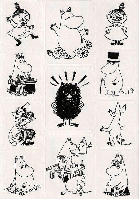 Moomin sticker sheet | Flickr - Photo Sharing!