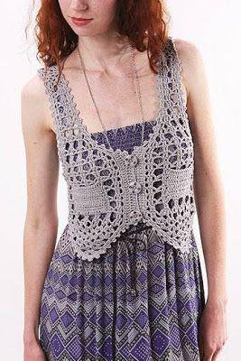 Patron Crochet Chaleco Dibujo Espalda - Patrones Crochet