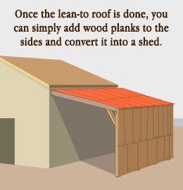 Tip to build a lean-to roof