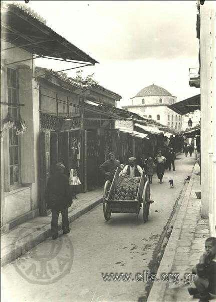 1919 ~ Pandrossou street, Athens (by Fred Boissonas)