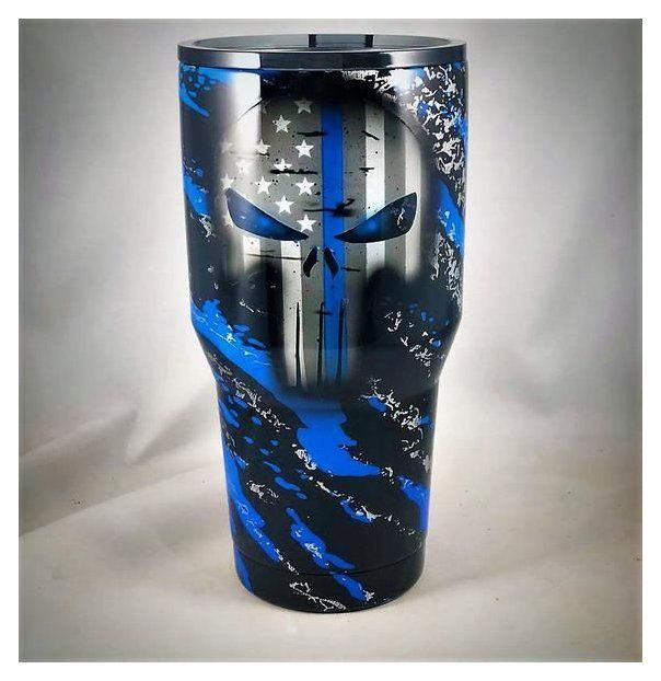 Thin blue line flag mug Police gifts Thin blue line flag Yeti