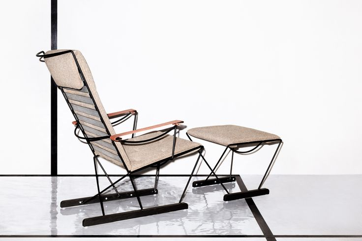 Massproductions - Spark Lounge Chair and Footstool. Scandinavian designer furniture with a modernist spirit!