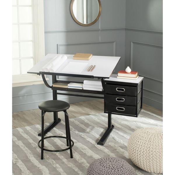 $177.74 Safavieh Harvard Black/ White Writing Desk
