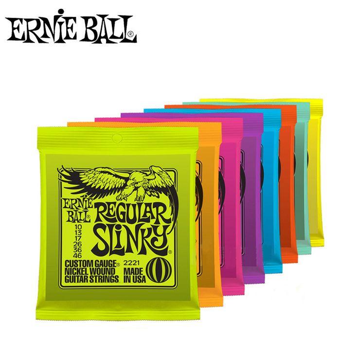 Original Ernie Ball cuerdas de guitarra eléctrica 2220 2221 2222 2223 2225 2215 2626 2627 instrumentos musicales guitar parts Accesorios