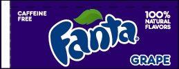 Small Fanta Grape Line Art Flavor Drink Labels | Small Vending Machine Flavor Strips