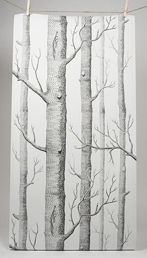 How fabulous is this very realistic woodsy wallpaper? #pinparty