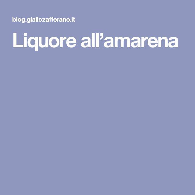 Liquore all'amarena