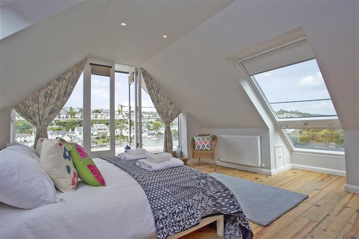 Hands up if you wouldn't mind waking up to this...    Master Bedroom| Point Cottage | Noss Mayo | Toad Hall Cottages