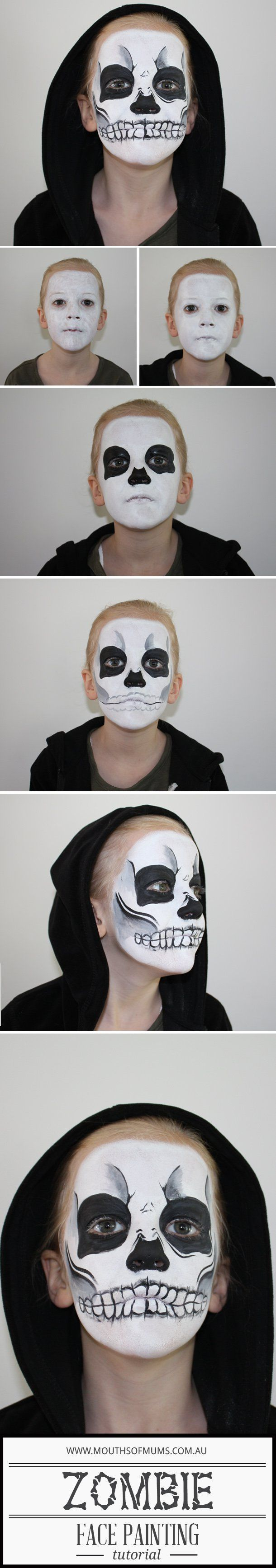 Kids Zombie Face Painting Tutorial