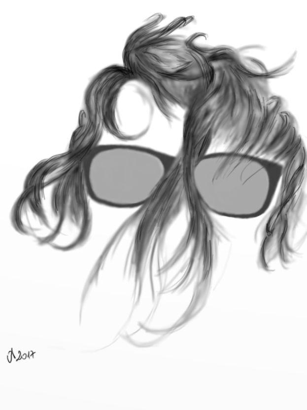 Szemüveg (ceruza) 2017