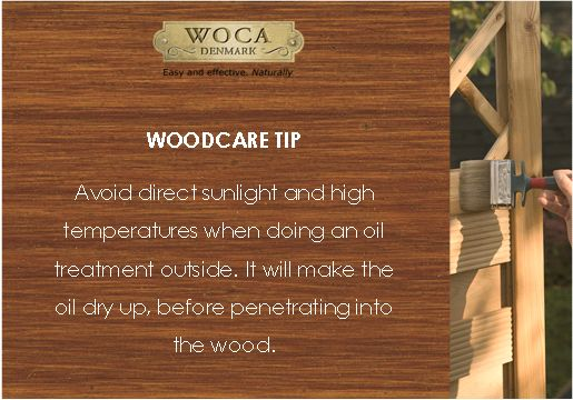 Woodcare tip - outdoor