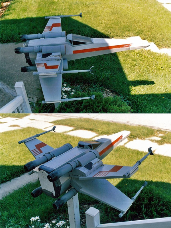 X-Wing mailbox. WANT!!!