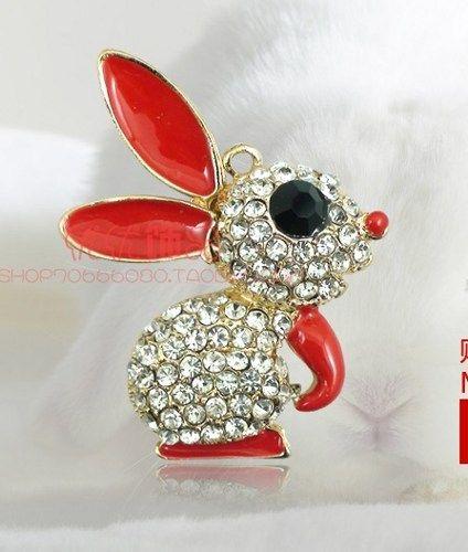 Crystal rabbits alloy diy bling phone deco etc | chriszcoolstuff - Craft Supplies on ArtFire