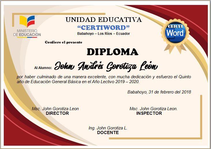Pin En Diploma