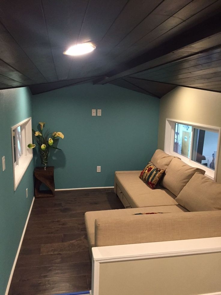 This is a Gooseneck Westbury model by Cornerstone Tiny Homes in Florida. I love the mix and match shingles and clapboards on the outside of the home ...