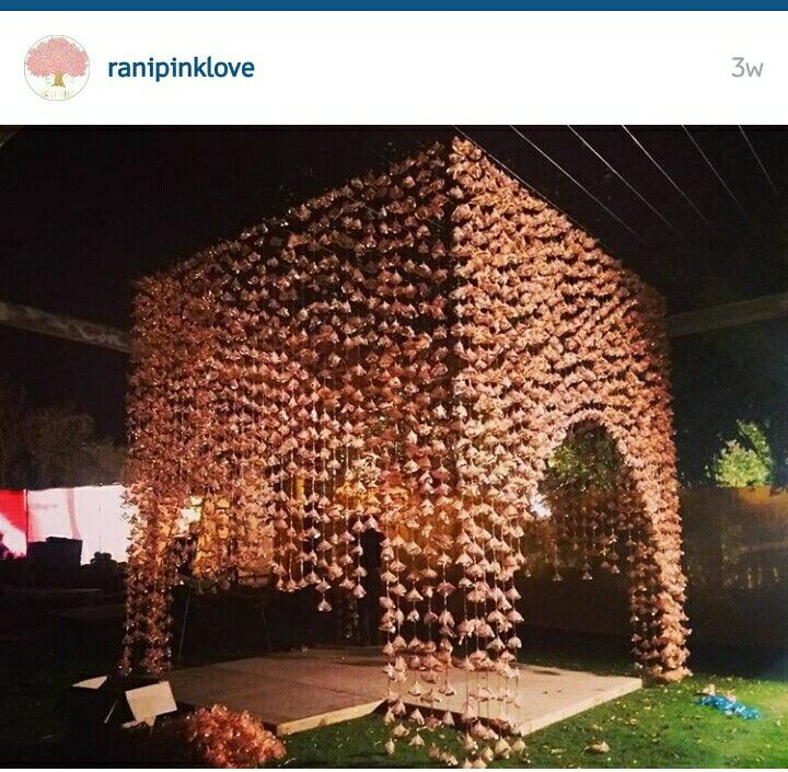 Gota wedding mandap. Rani pink love. Love them