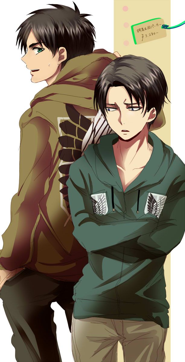 Levi and Eren Attack on Titan