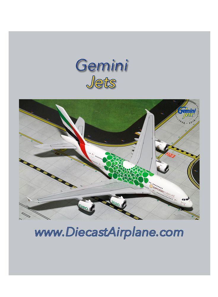 Emirates A380-800 EXPO 2020, Green (1:400) | GeminiJets | Expo 2020