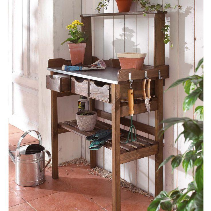 Amazing Garten Arbeitstisch Pflanztisch G rtnertisch Blumentisch Gartenarbeitestisch