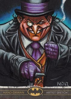 Oswald Cobblepot, AKA The Penguin, was modeled after the Kool cigarettes mascot Willie the penguin.