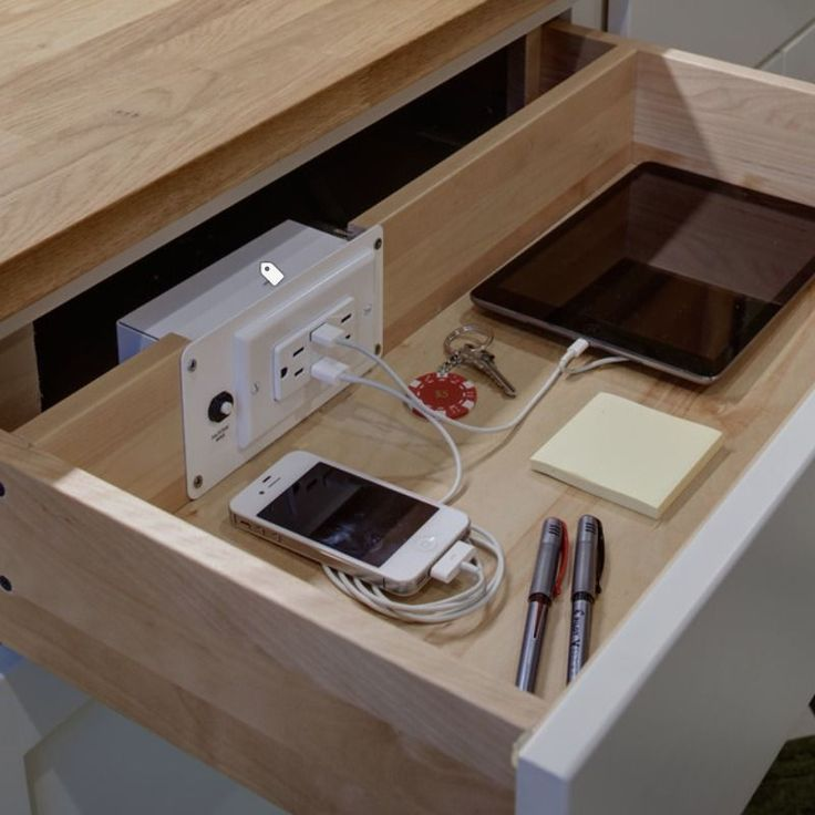 Outlet In Drawer - Great Idea!!Edit Description