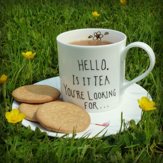 Lionel Rich Tea mug Bone China Mug by PolkadotofWinslow on Etsy, £8.00