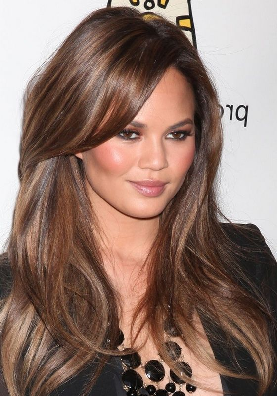 low maintenance highlights for brown hair   Brunette Hair Color With Highlights