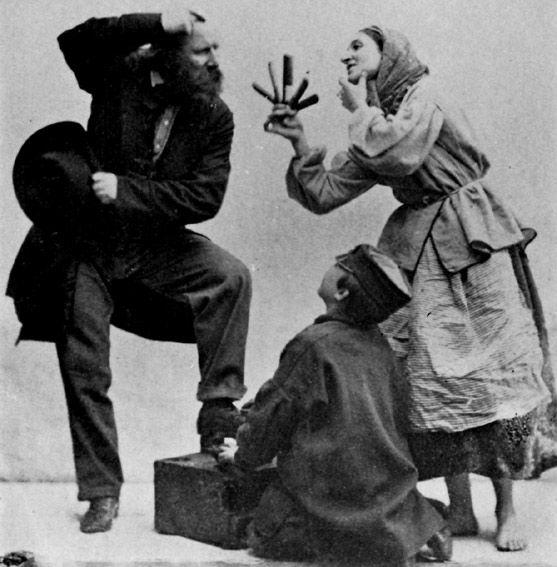 An English Gypsy woman selling combs.  Photograph by Oskar Gustav Rejlander, 1860s