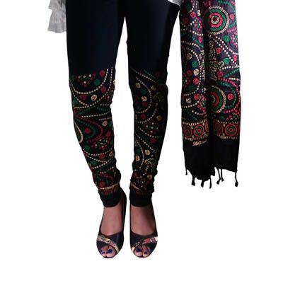 Buy Fashion LifeStyle Black Cotton Legging With Dupatta by Fashion LifeStyle, on Paytm, Price: Rs.489?utm_medium=pintrest