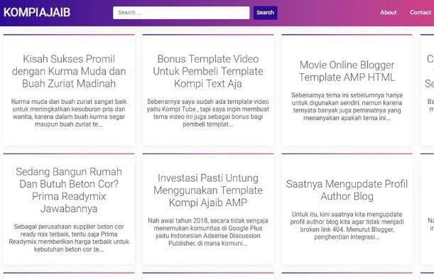 Download Template Kompi Ajaib Amp Premium Gratis Kisah Sukses Amp Blog