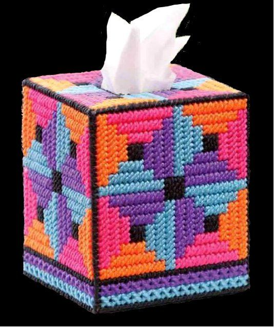 Bright Boutique Size Tissue Box Cover QUILTED by NiftyStitches4U, $24.99