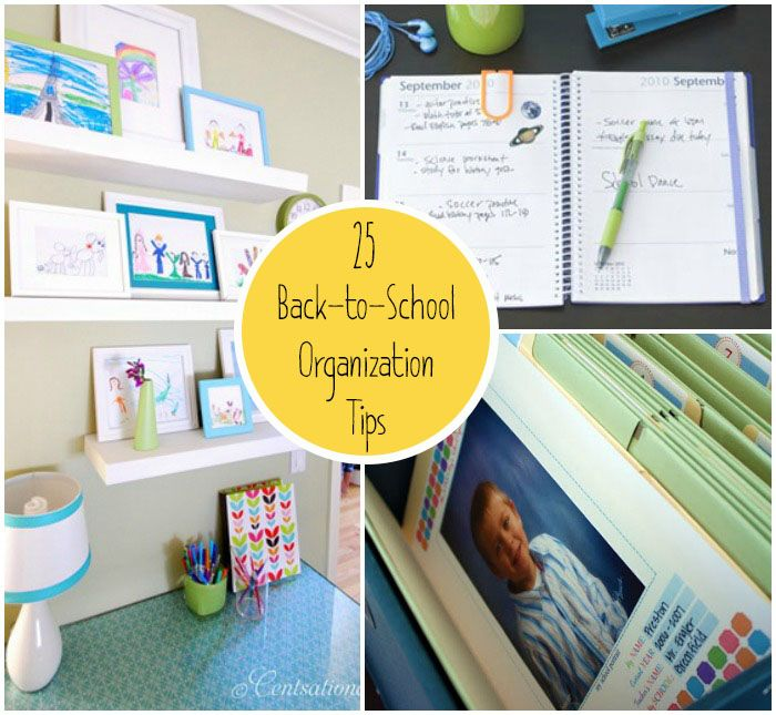20 organization tips for a low stress school year new school year home organization ideas and - Back to school organization ...