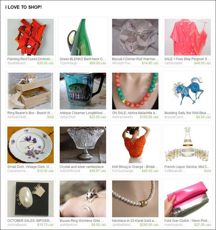 I Love To Shop - Etsy Treasury curated by Trish Regan from AshiraBeads on Etsy