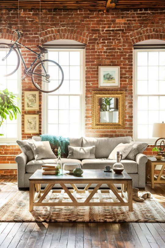 Jules sofa for Ultimate Comfort, Coffee Table, Windows, Bike
