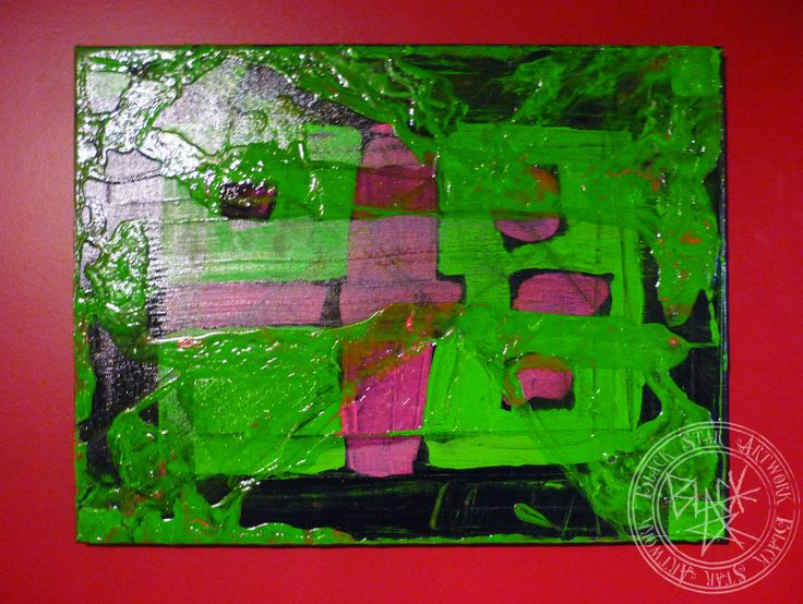 """Turtles""   20"" x 16""   Acrylic on canvas   Black Star Artwork by Leonard Walsh  www.facebook.com/BlackStarArtwork http://bit.ly/1bCN2xI"