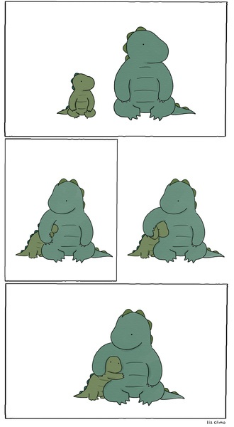 Forced Affection Art Print. Liz Climo //this is me and my dogs ALL the time :)