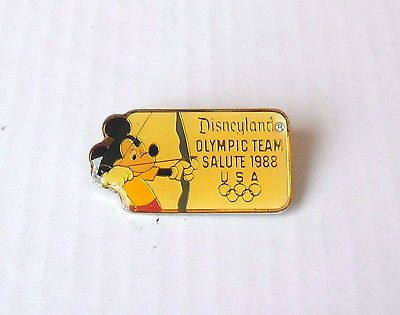 """Disney #olympic team salute 1988 u s a #""""archery"""" mickey #mouse enamel badge (d),  View more on the LINK: http://www.zeppy.io/product/gb/2/351721424362/"""