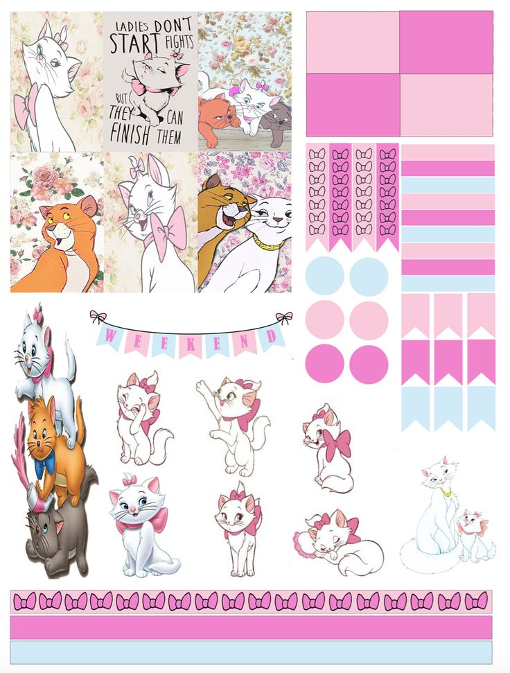 Free the Aristocats Planner Stickers