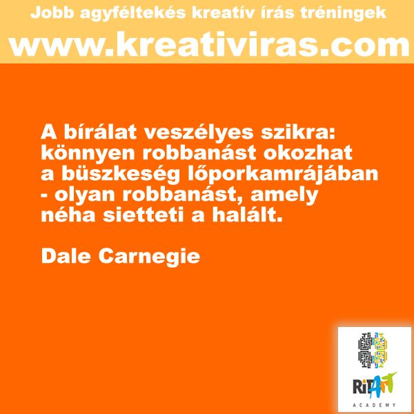 Dale Carnegi a kritikáról