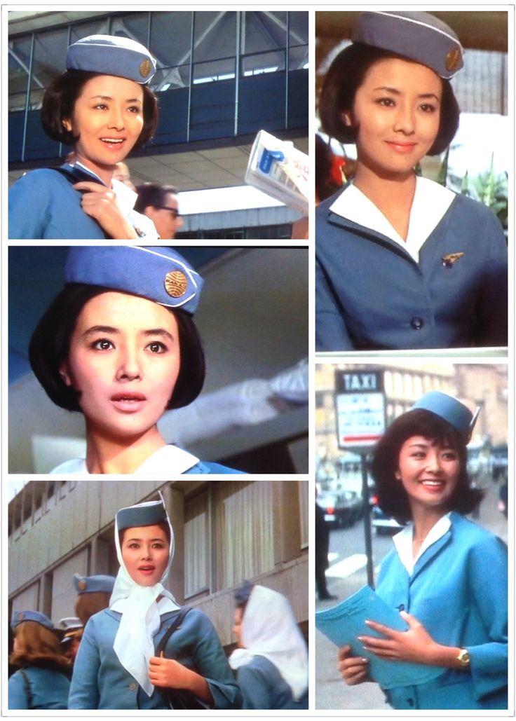 Yuriko Hoshi(星由里子) played Pan Am air stewardess. ※アルプスの若大将(It Started in the Alps)1966,南太平洋の若大将(Judo Champion)1967