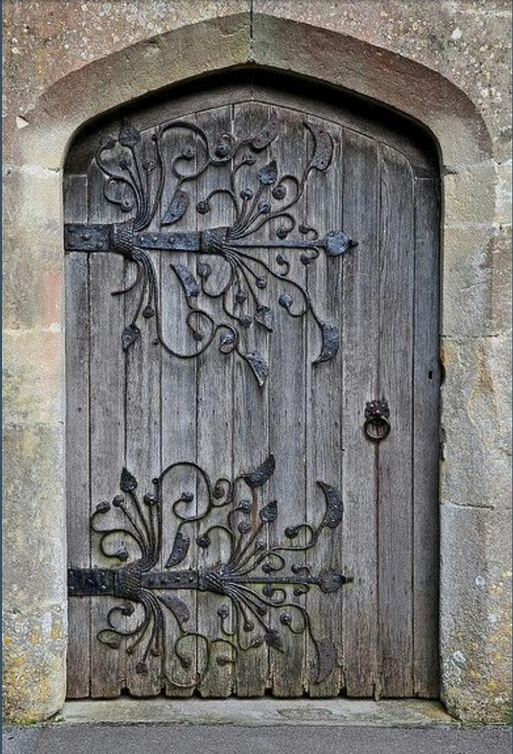 Beautiful rustic door absolutely love the hardware design for Beautiful wood front doors