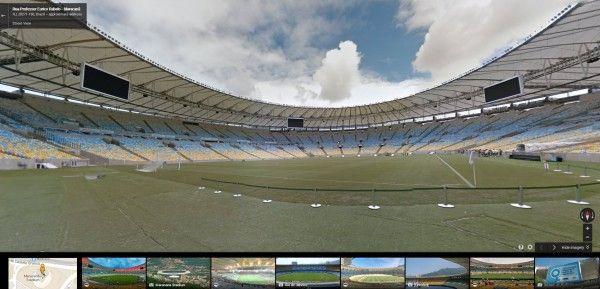 Street View ci fa entrare negli stadi dei mondiali di calcio in Brasile