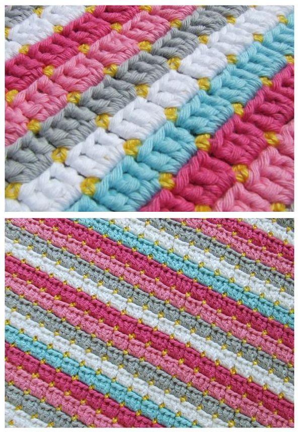 Lujo Bandera De Texas Patrón De Crochet Afghan Friso - Manta de ...