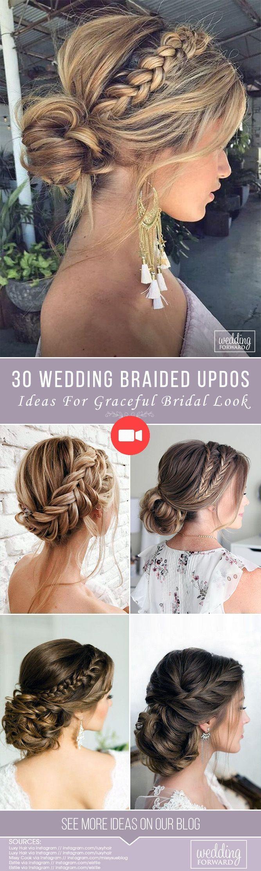 Plus de 50 coiffures de mariage d'été pour cheveux mi-longs – ongles de mariée – ongles de mariée   – Coiffure de Mariage